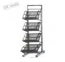 ชั้นวางหนังสือแบบตั้ง 4 ชั้น