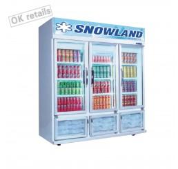 ตู้แช่เครื่องดื่ม 3 ประตู ระบบโนฟรอส SNOWLAND