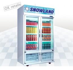 ตู้แช่เครื่องดื่ม 2 ประตู ระบบโนฟรอส SNOWLAND