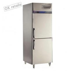 ตู้แช่เย็นสแตนเลสแบบยืน 2 ประตู แช่แข็ง
