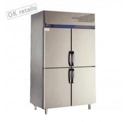 ตู้แช่เย็นสแตนเลสแบบยืน 4 ประตู แช่แข็ง