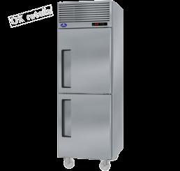 ตู้แช่เย็นสแตนเลสแบบยืน 2 ประตู (ฟริสเซอร์)